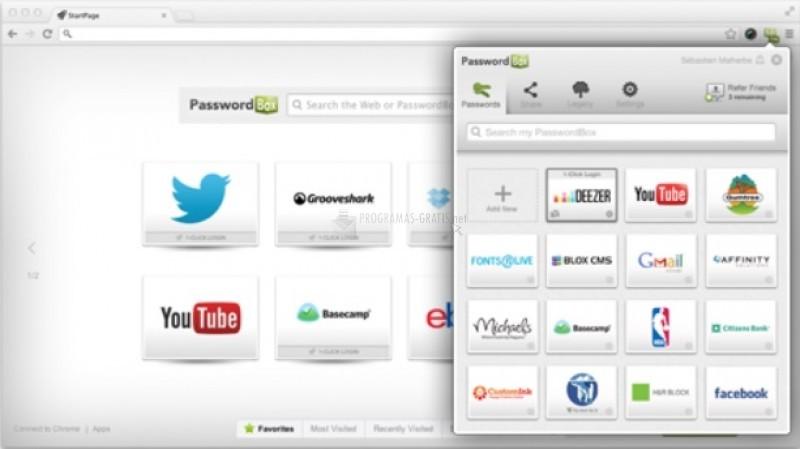 Pantallazo PasswordBox
