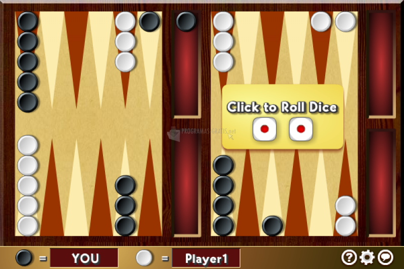Pantallazo Multiplayer Backgammon