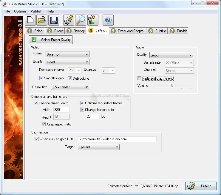 Screenshot Flash Video Studio