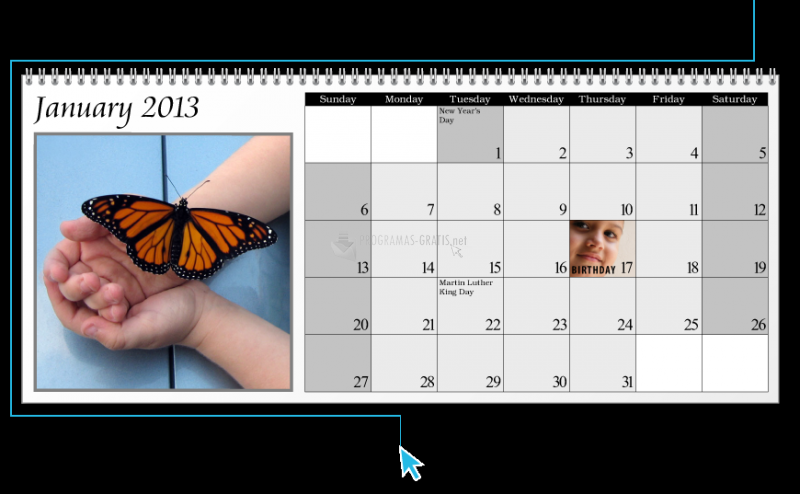 Pantallazo Calendar Software