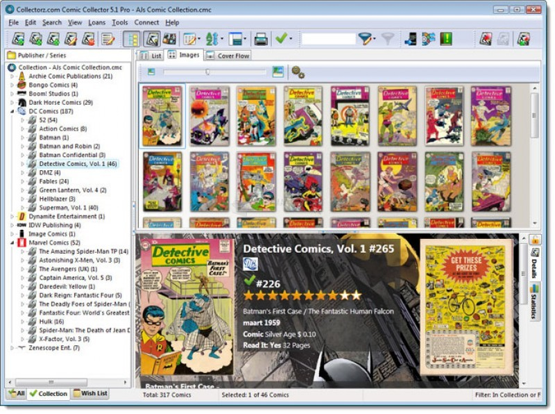 Pantallazo Collectorz.com Comic Collector