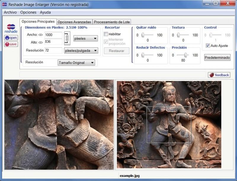 Pantallazo Reshade Image Enlarger