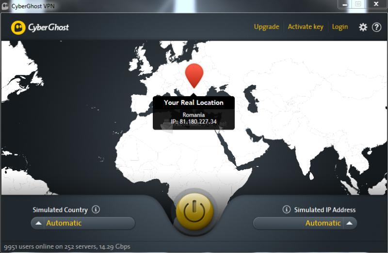 Pantallazo CyberGhost VPN