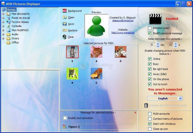 Pantallazo MSN Pictures Displayer