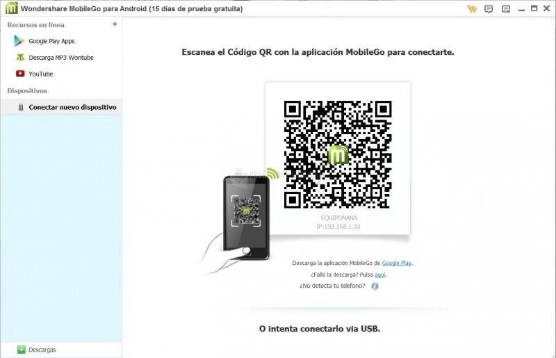 Pantallazo MobileGo Android