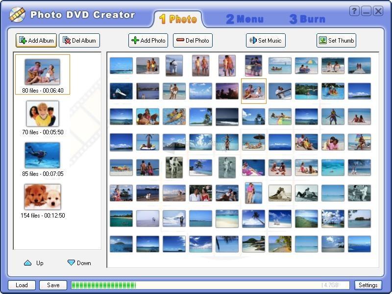 Pantallazo Photo DVD Creator
