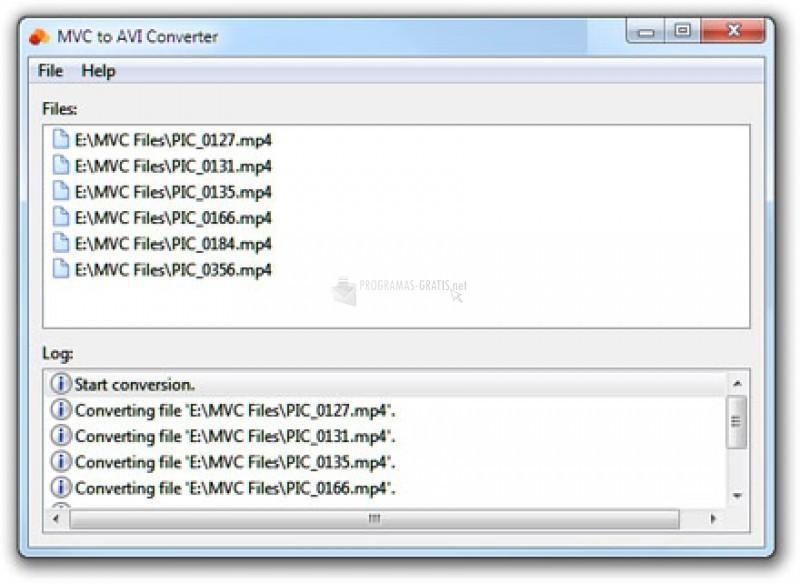 Pantallazo MVC to AVI Converter