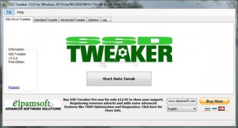 Pantallazo SSD Tweaker
