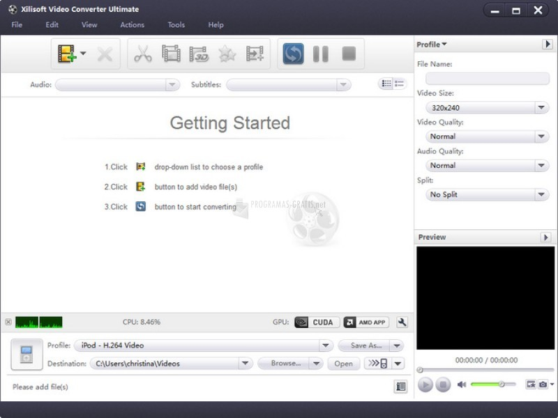 Pantallazo Xilisoft Video Converter