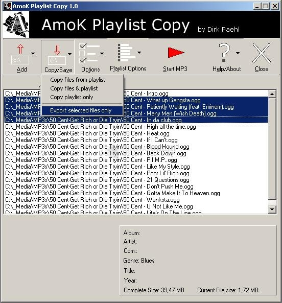 Pantallazo AmoK Playlist Copy