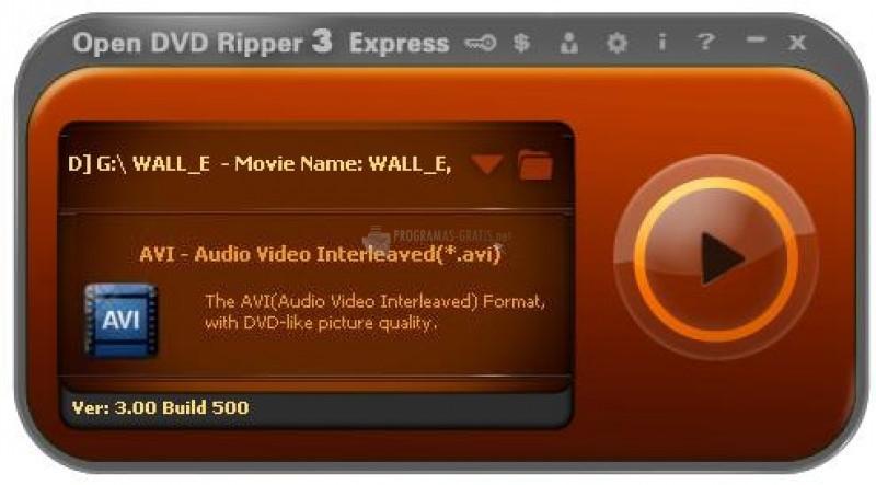 Pantallazo Open DVD Transformer
