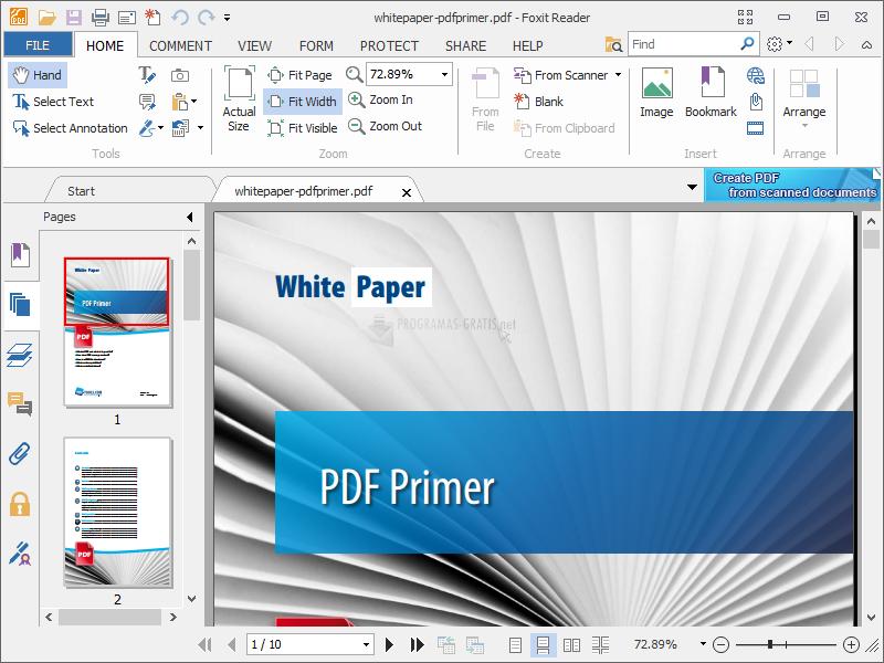 Pantallazo Foxit PDF Reader Portable