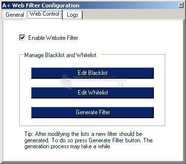 Pantallazo A  Web Filter
