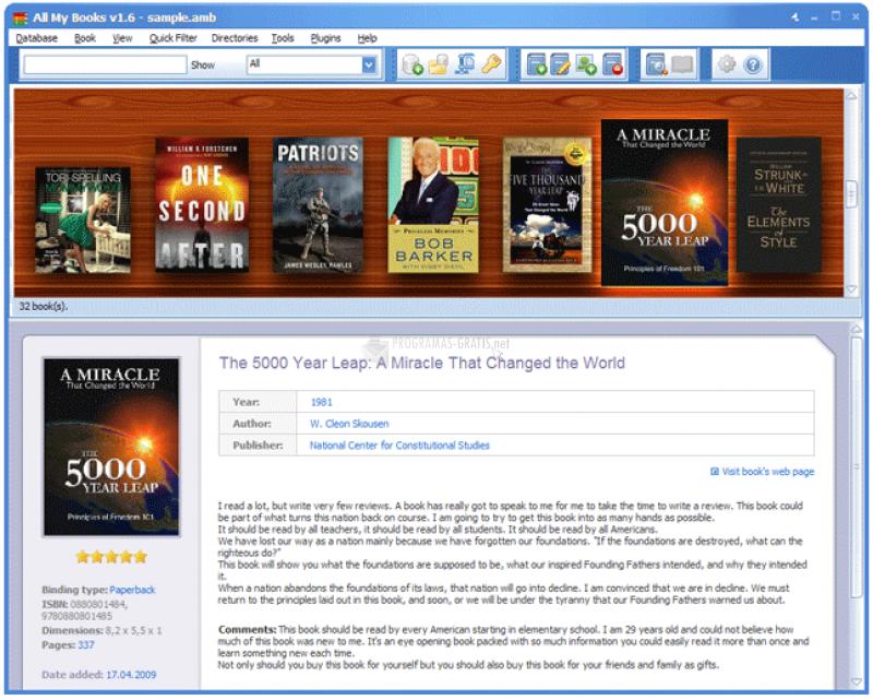 Pantallazo Software for Library