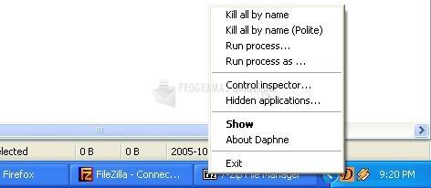 Screenshot Daphne