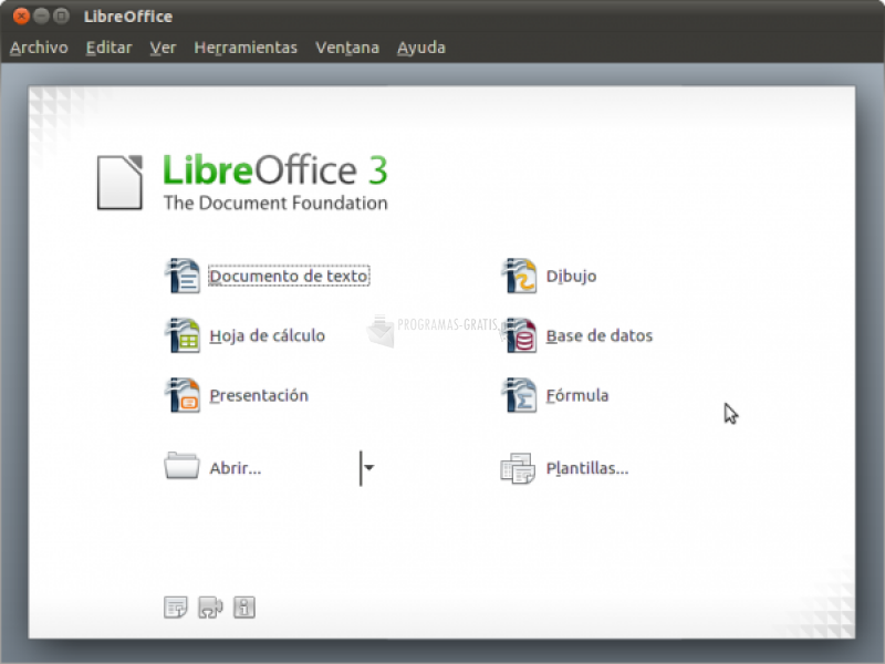 Pantallazo Libre Office Portable