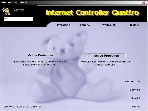 Pantallazo Internet Controller