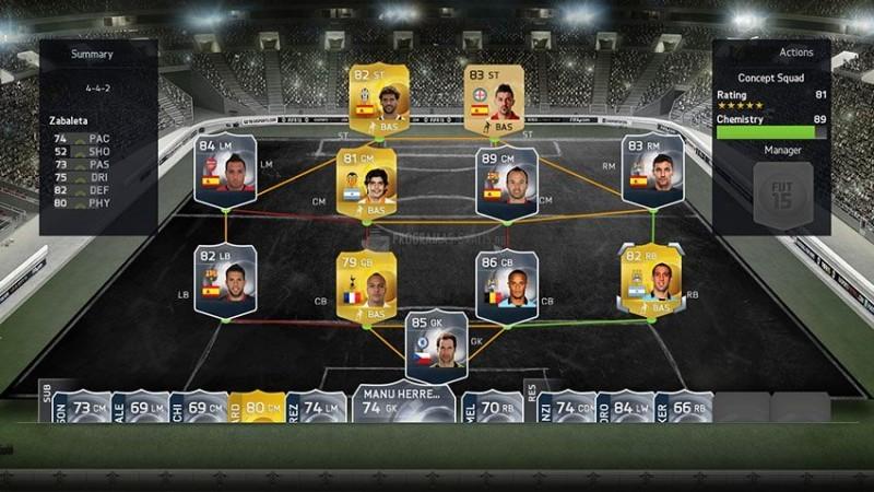Pantallazo FIFA 15 Ultimate Team