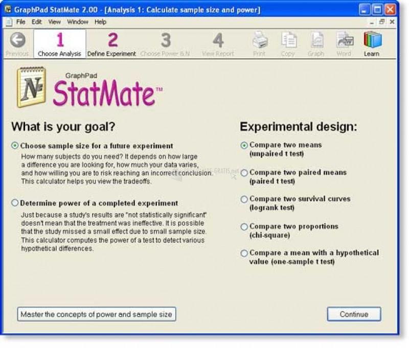 Pantallazo StatMate