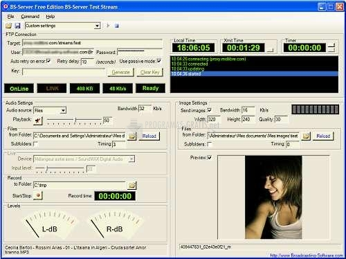Pantallazo Internet Broadcasting Studio
