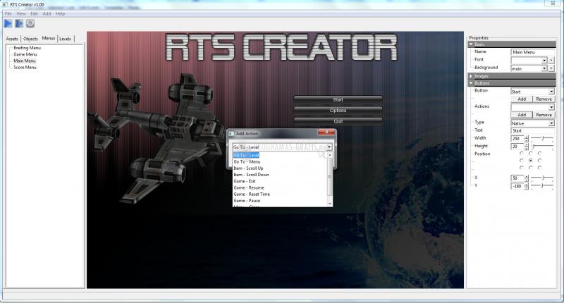 Pantallazo RTS Creator