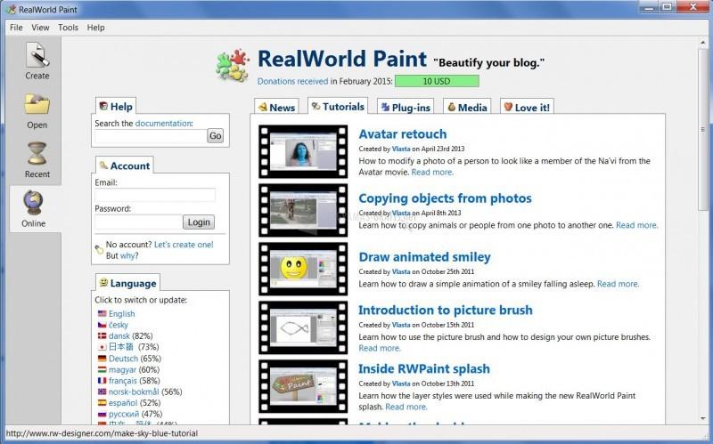 Pantallazo RealWorld Paint