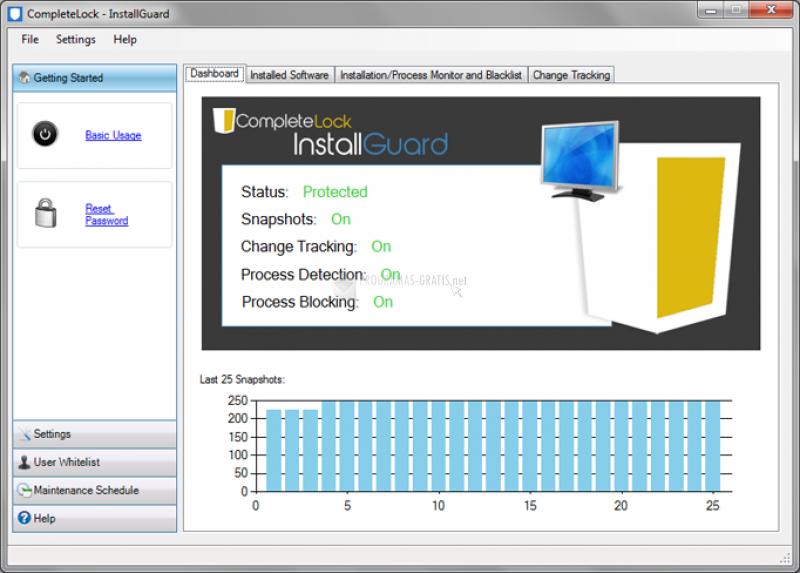 Pantallazo InstallGuard Complete Control