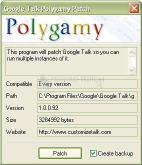 Pantallazo Google Talk Polygamy