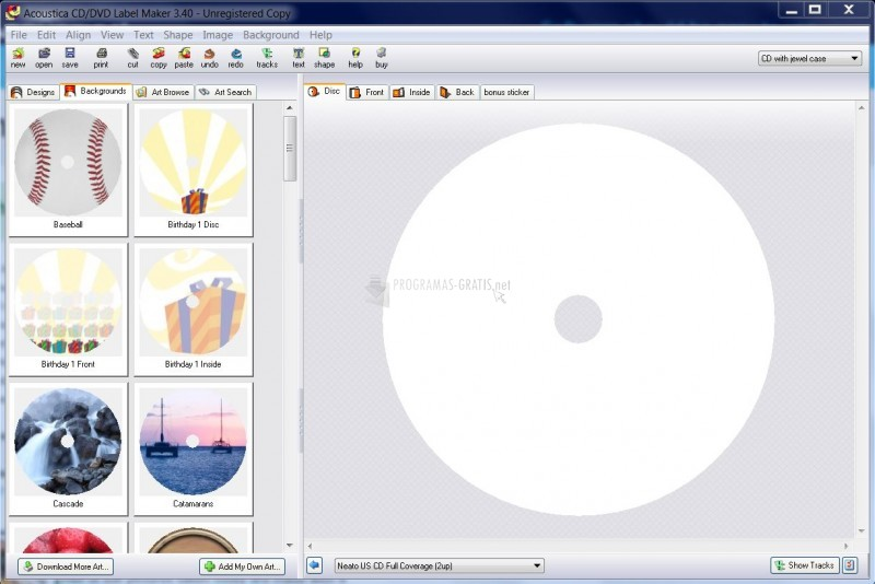 descargar acoustica cd-dvd label maker 3.33 gratis