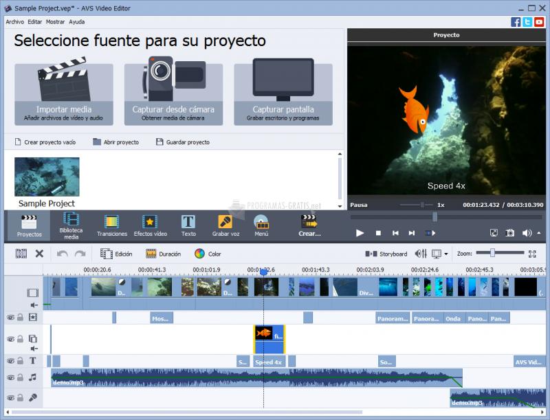 Pantallazo AVS Video Editor