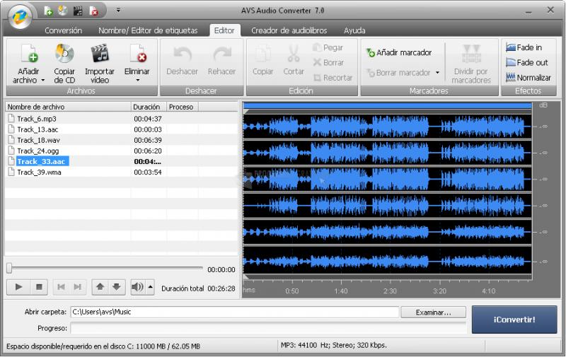 Pantallazo AVS Audio Converter