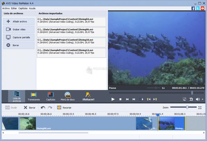 Pantallazo AVS Video ReMaker