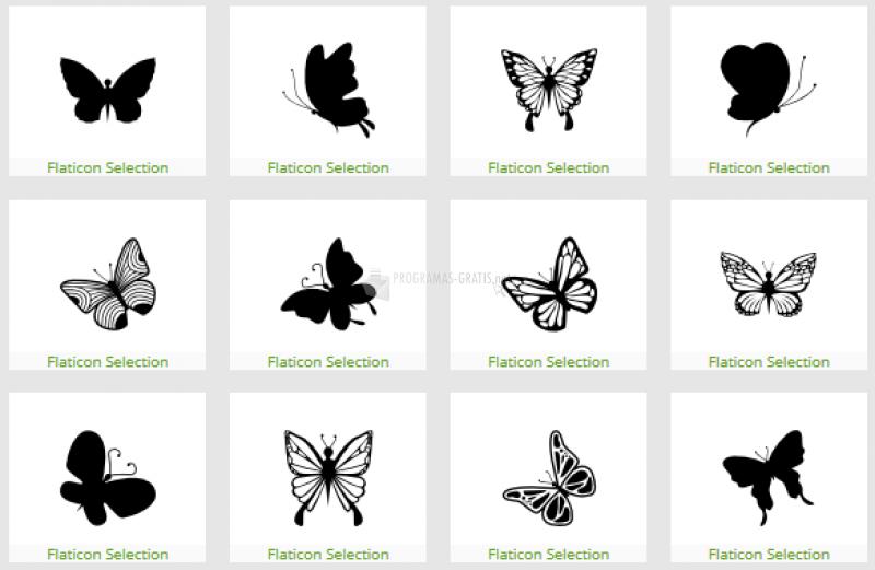 Pantallazo Iconos de mariposas