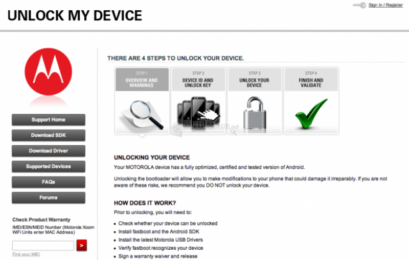 Pantallazo Motorola Device Manager