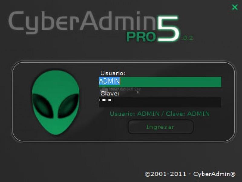 Pantallazo CyberAdmin Server