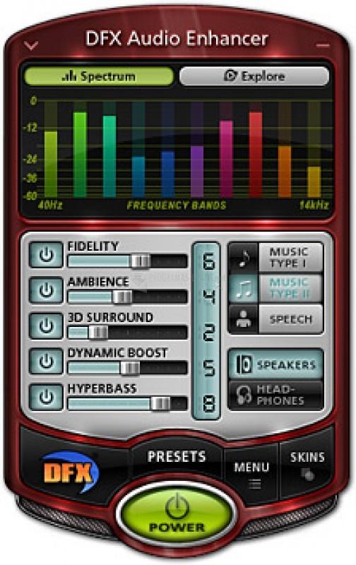Pantallazo DFX Audio Enhancer