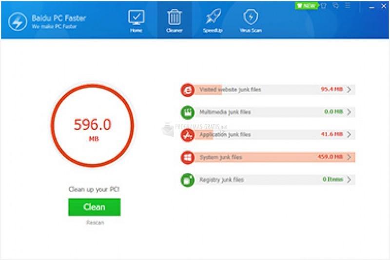 Pantallazo Baidu PC Faster