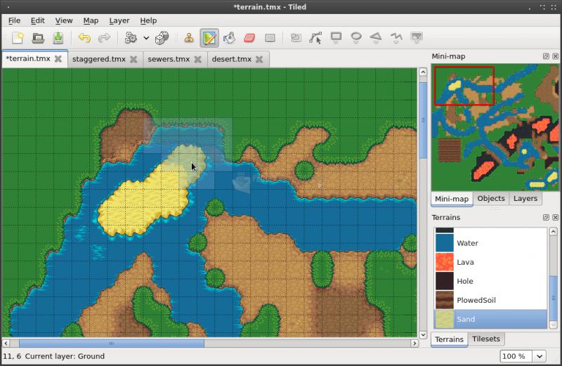 Pantallazo Tiled Map Editor
