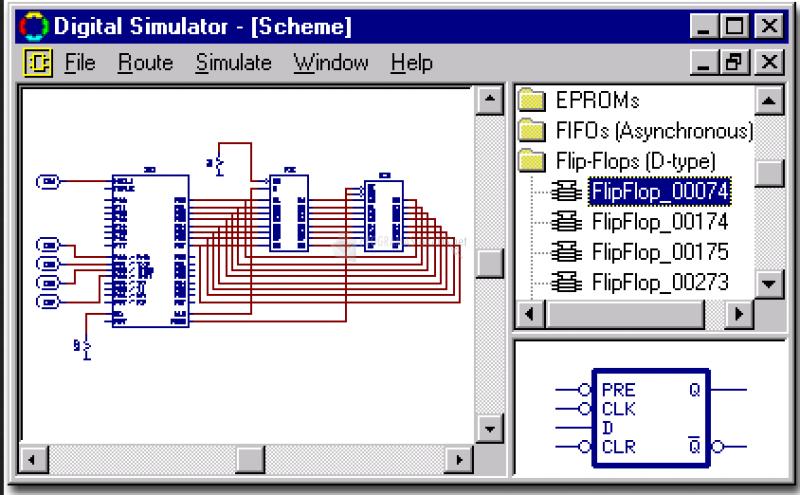 Pantallazo MacroSim Digital Simulator