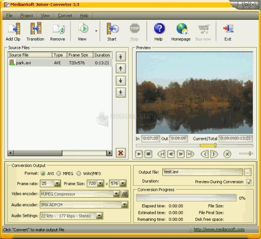 Pantallazo MedianSoft Joiner-Converter
