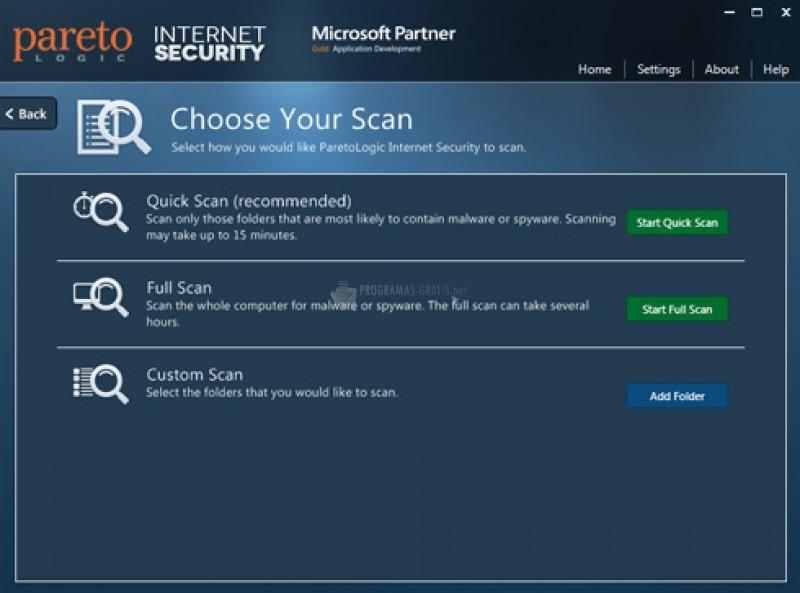 Pantallazo ParetoLogic Internet Security