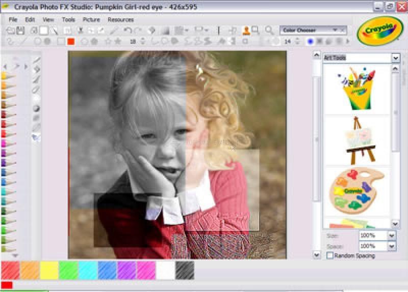 Pantallazo Crayola PhotoFX Studio