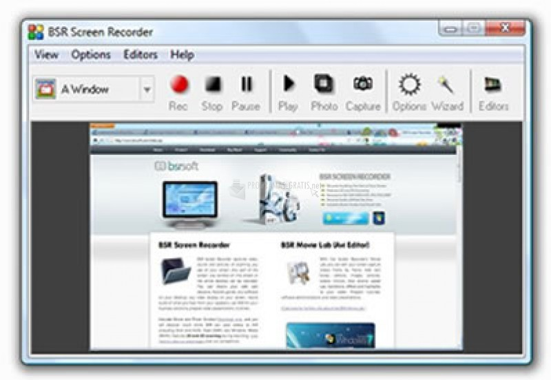 Pantallazo BSR Screen Recorder