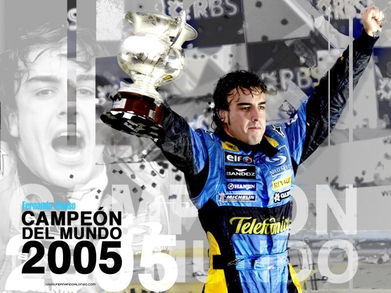 Pantallazo Fernando Alonso Campeon F1 2005