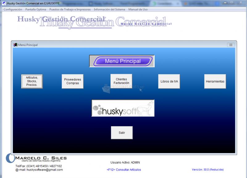 Pantallazo Husky Facturador Electrónico