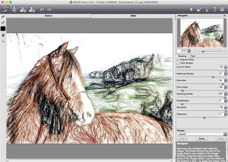 Screenshot AKVIS Draw