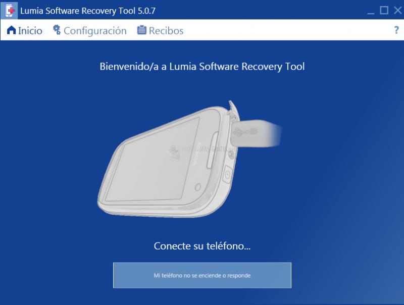 Pantallazo Nokia Software Recovery Tool