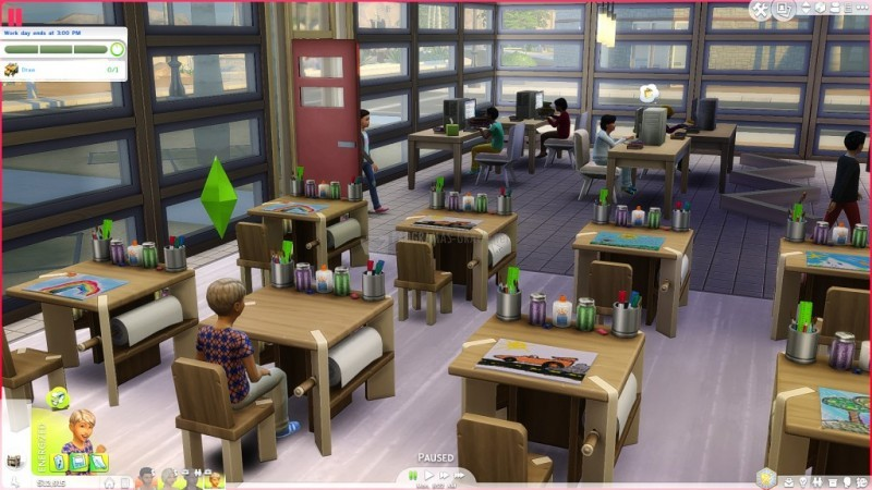 Pantallazo The Sims 4: Go to School Mod Pack