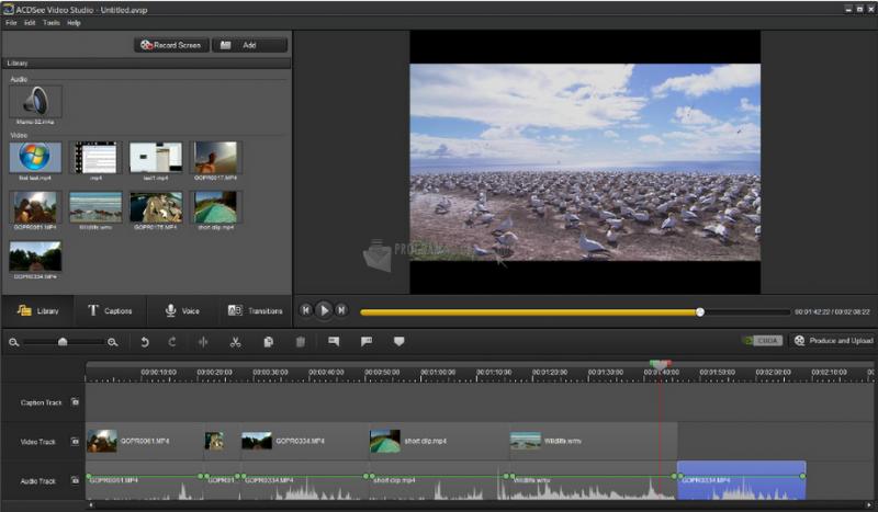 Pantallazo ACDSee Video Studio