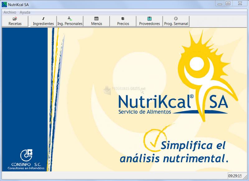 Pantallazo NutriKcal SA